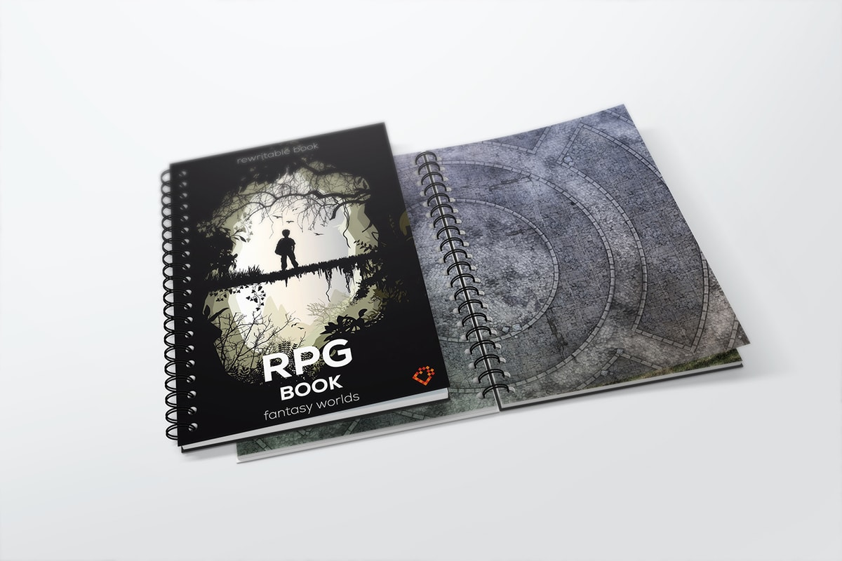 Erasabale RPG book with square gird - size: A3 - 1