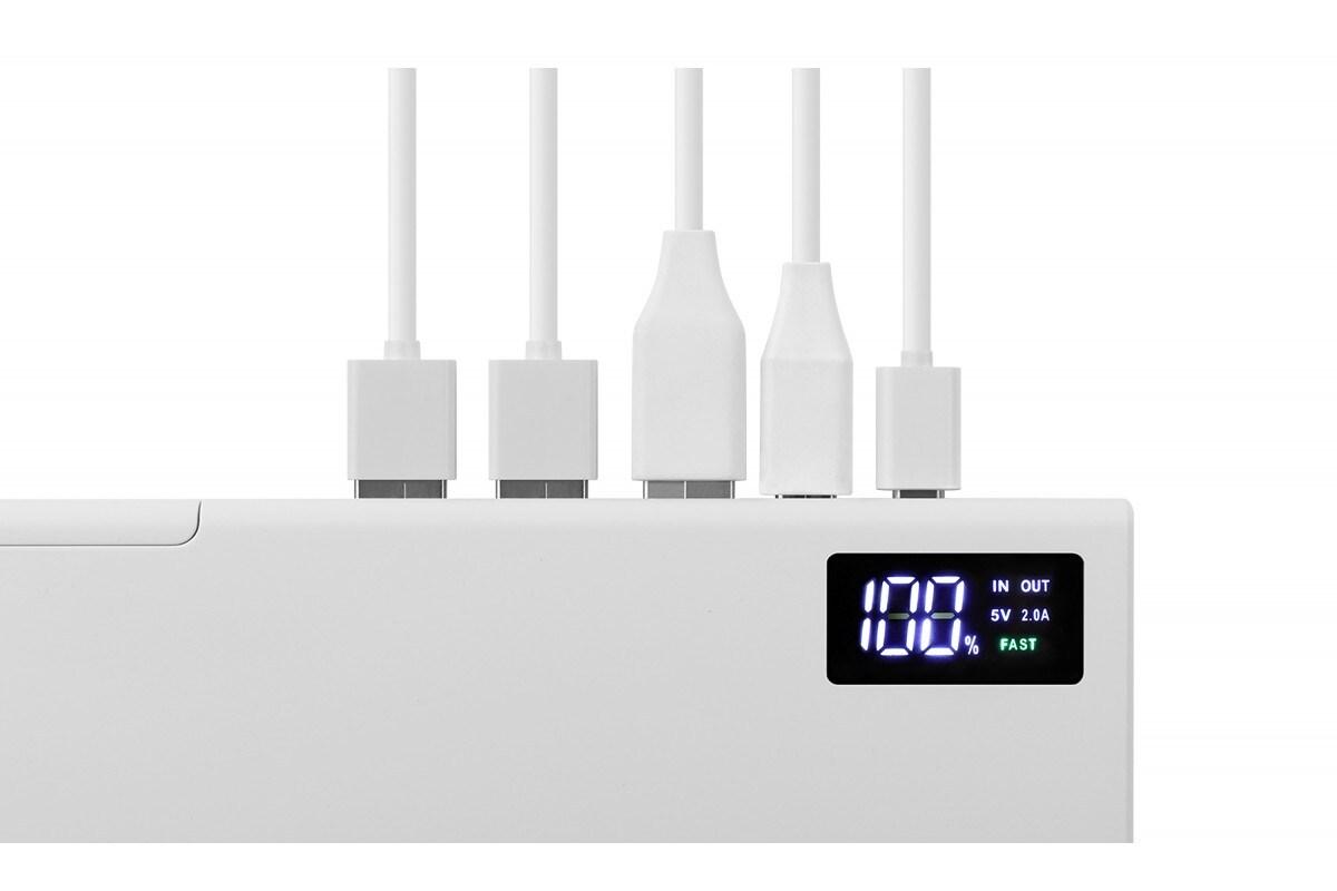 Power bank TopON TOP-MAX2 QC3.0, power delivery. USB Type-C, microUSB, 3 USB, black 30000mAh - 6