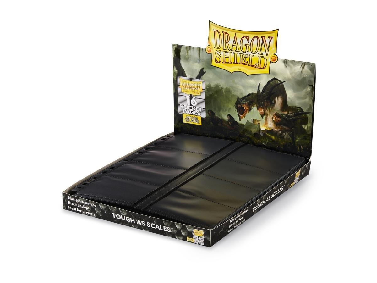 Dragon Shield - 16-Pocket NonGlare - Center Loader Pages - 1