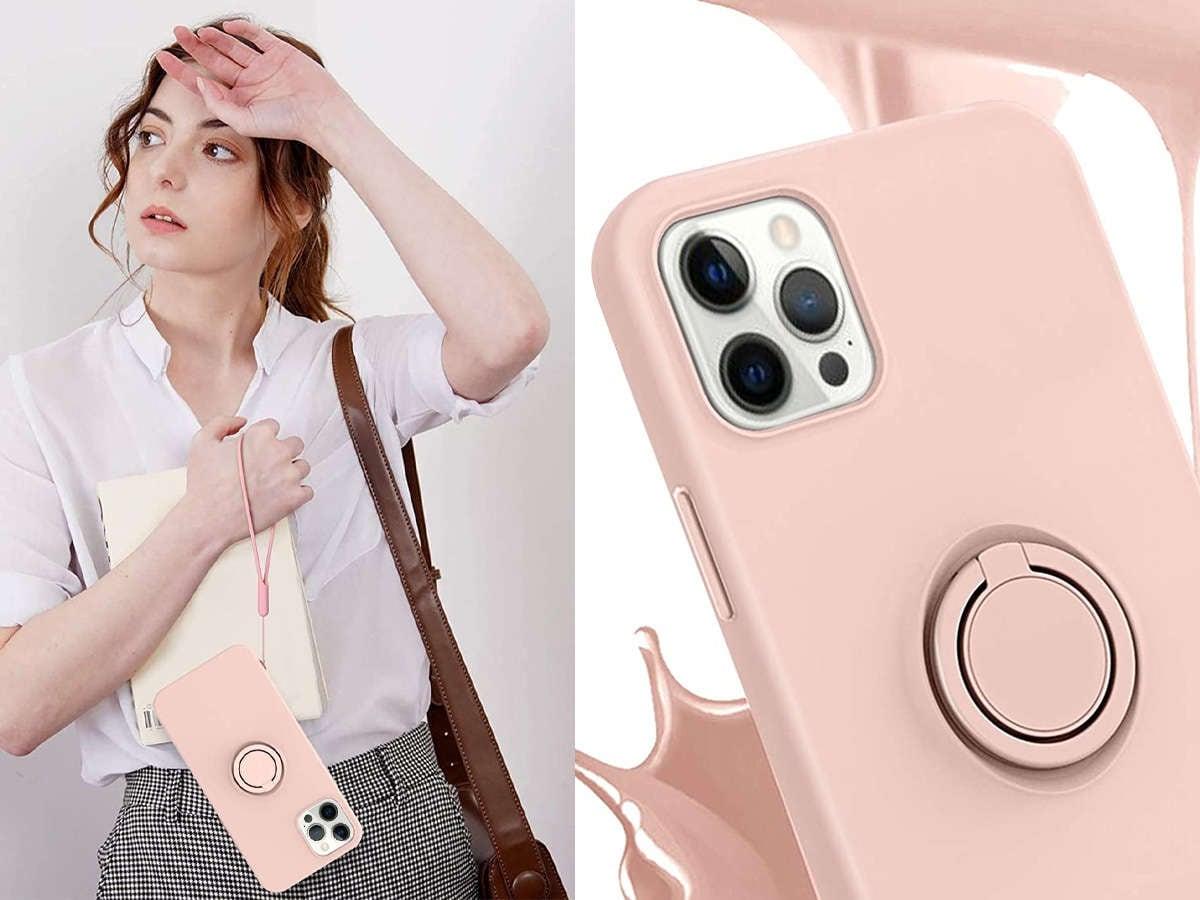 Etui silikonowe Ring Ultra Slim Alogy do iPhone 12 Pro Max 6.7 Różowe - 2