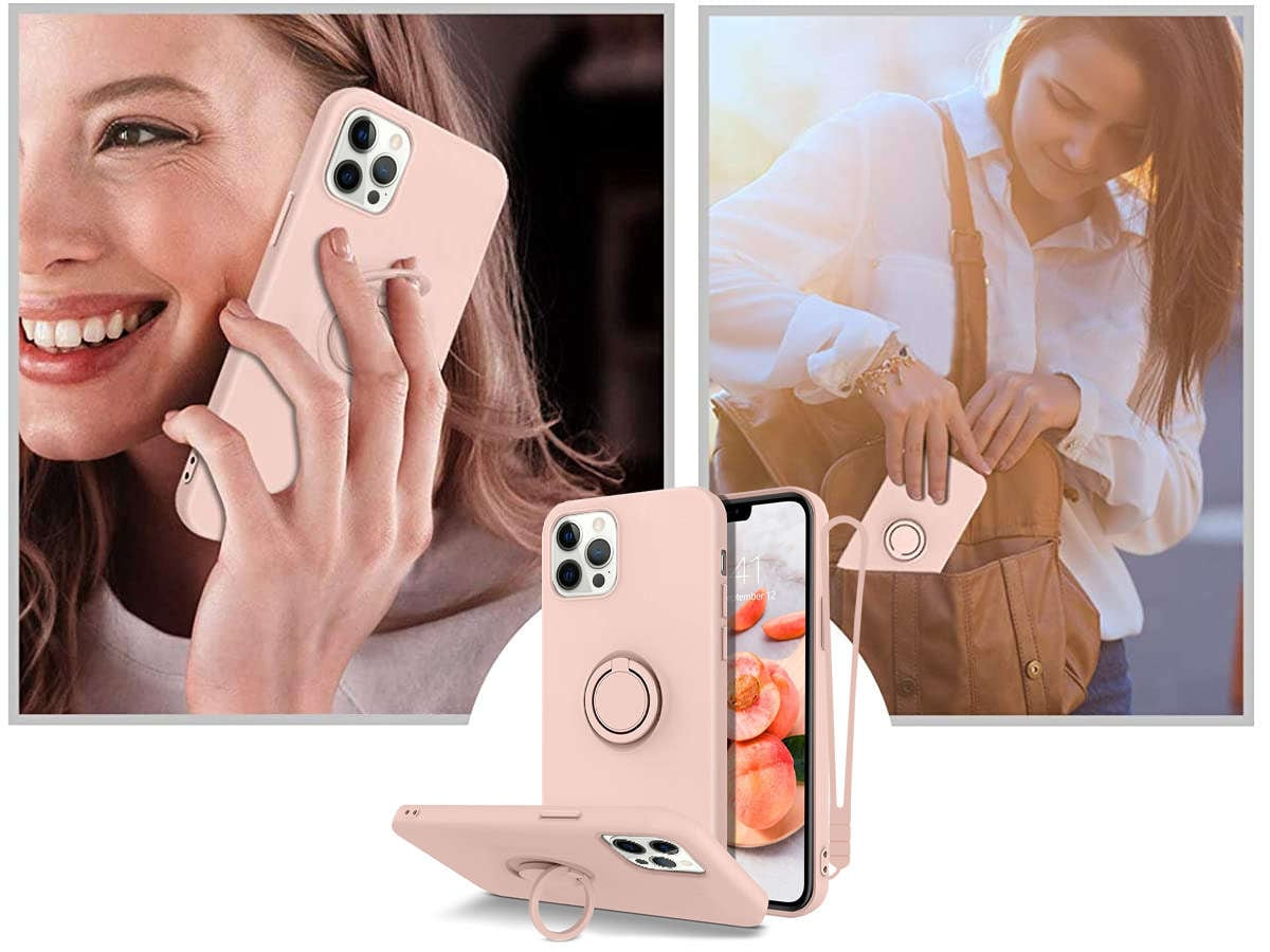 Etui silikonowe Ring Ultra Slim Alogy do iPhone 12 Pro Max 6.7 Różowe - 6