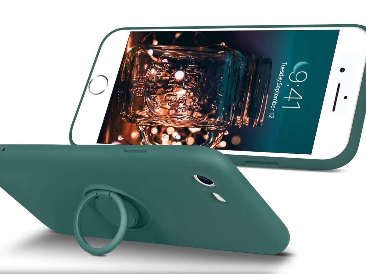Etui silikonowe Ring Ultra Slim Alogy do iPhone SE 2020/ 8/ 7 Zielone - 2
