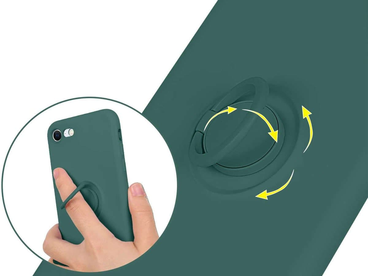 Etui silikonowe Ring Ultra Slim Alogy do iPhone SE 2020/ 8/ 7 Zielone - 5