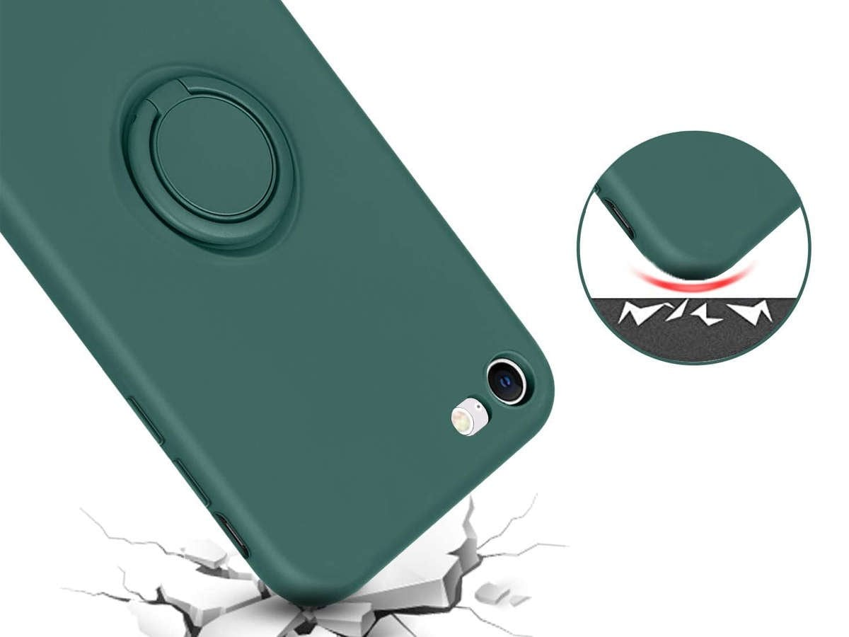 Etui silikonowe Ring Ultra Slim Alogy do iPhone SE 2020/ 8/ 7 Zielone - 4