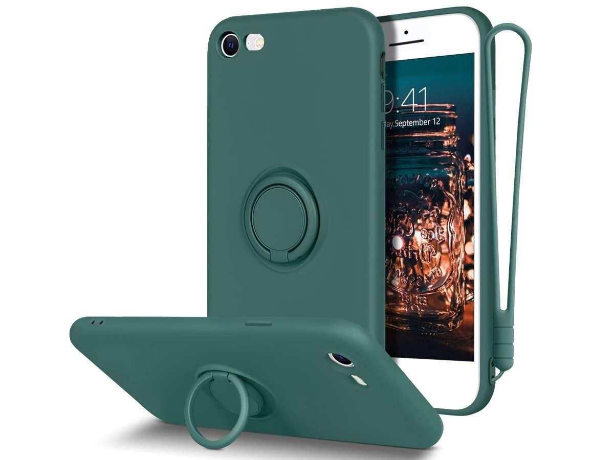 Etui silikonowe Ring Ultra Slim Alogy do iPhone SE 2020/ 8/ 7 Zielone - 1