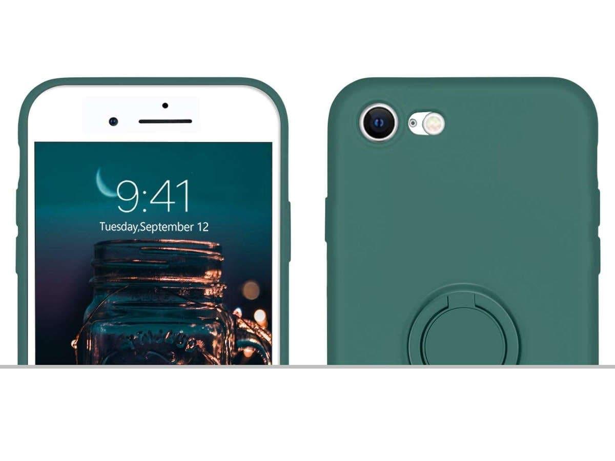 Etui silikonowe Ring Ultra Slim Alogy do iPhone SE 2020/ 8/ 7 Zielone - 3