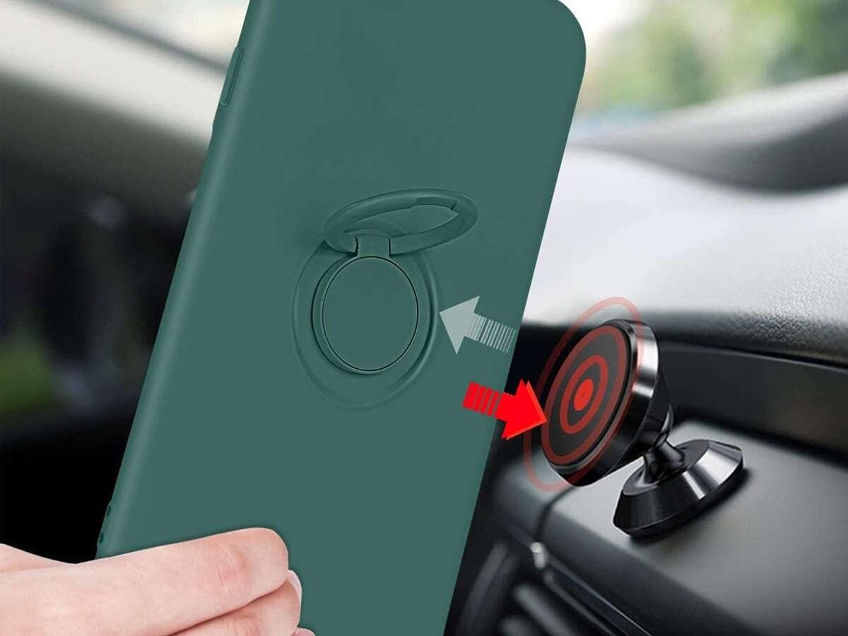 Etui silikonowe Ring Ultra Slim Alogy do iPhone SE 2020/ 8/ 7 Zielone - 7