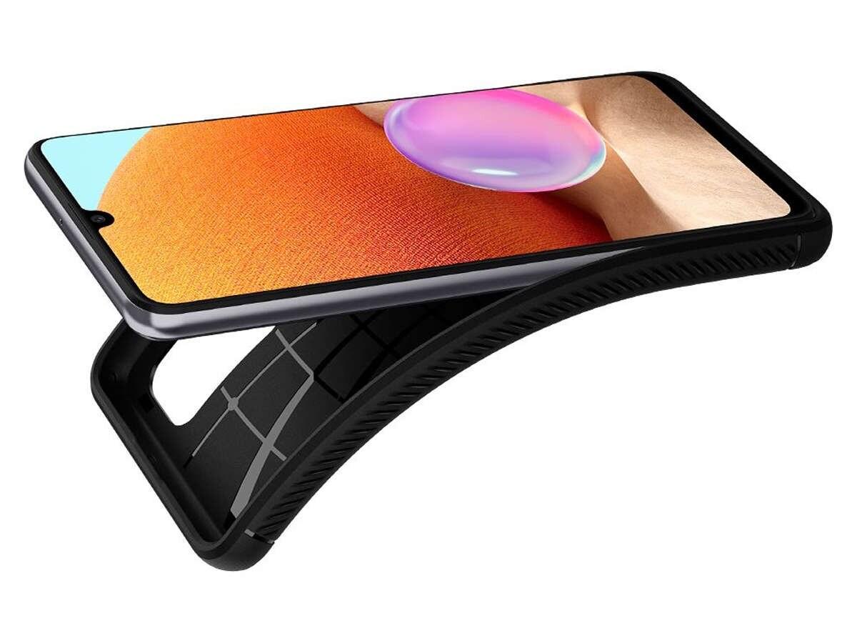 Etui Spigen Rugged Armor do Samsung Galaxy A32 LTE Matte Black - 4