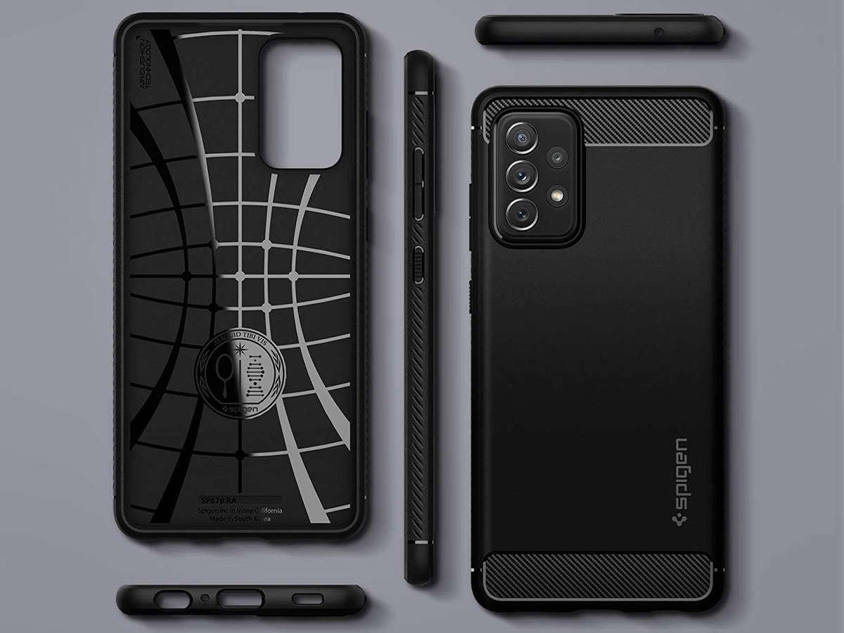Etui Spigen Rugged Armor do Samsung Galaxy A32 LTE Matte Black - 5