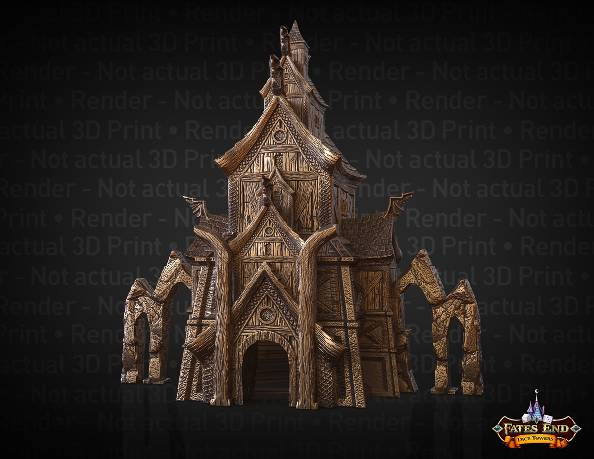 Valkyrie dice tower by Fates End Kim Bourrie - 1