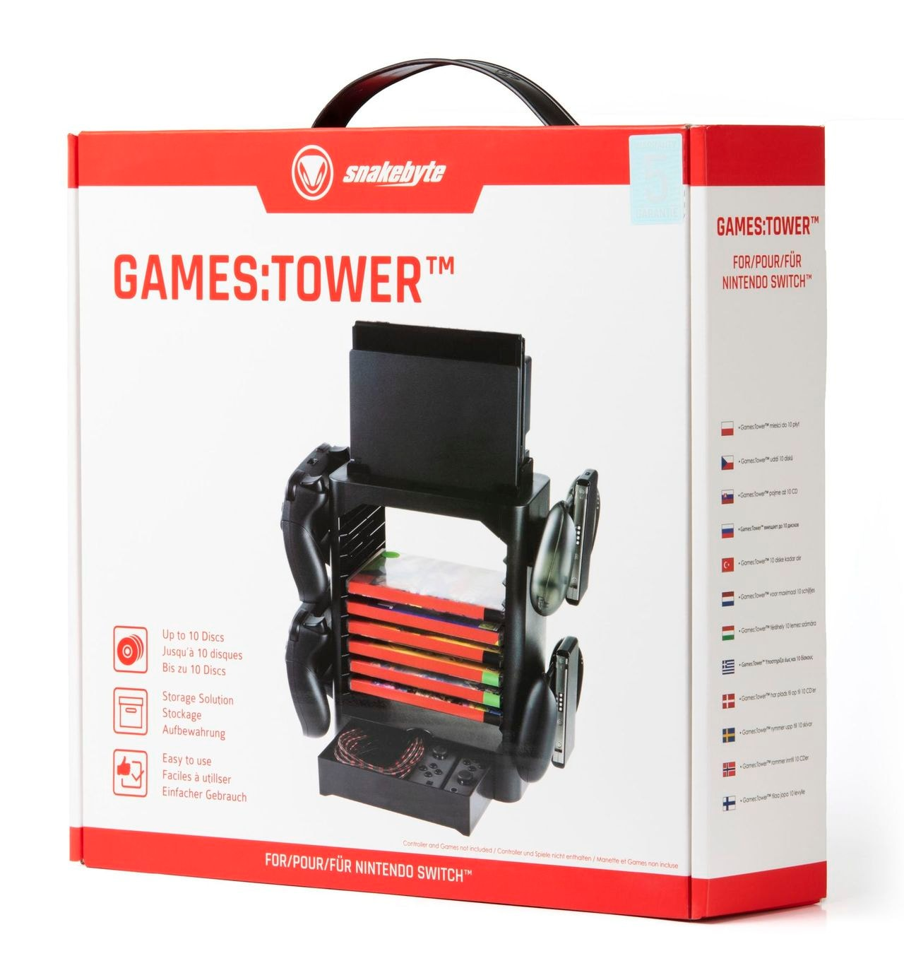 Snakebyte Games:Tower Nintendo Switch Nintendo Switch Black - 3