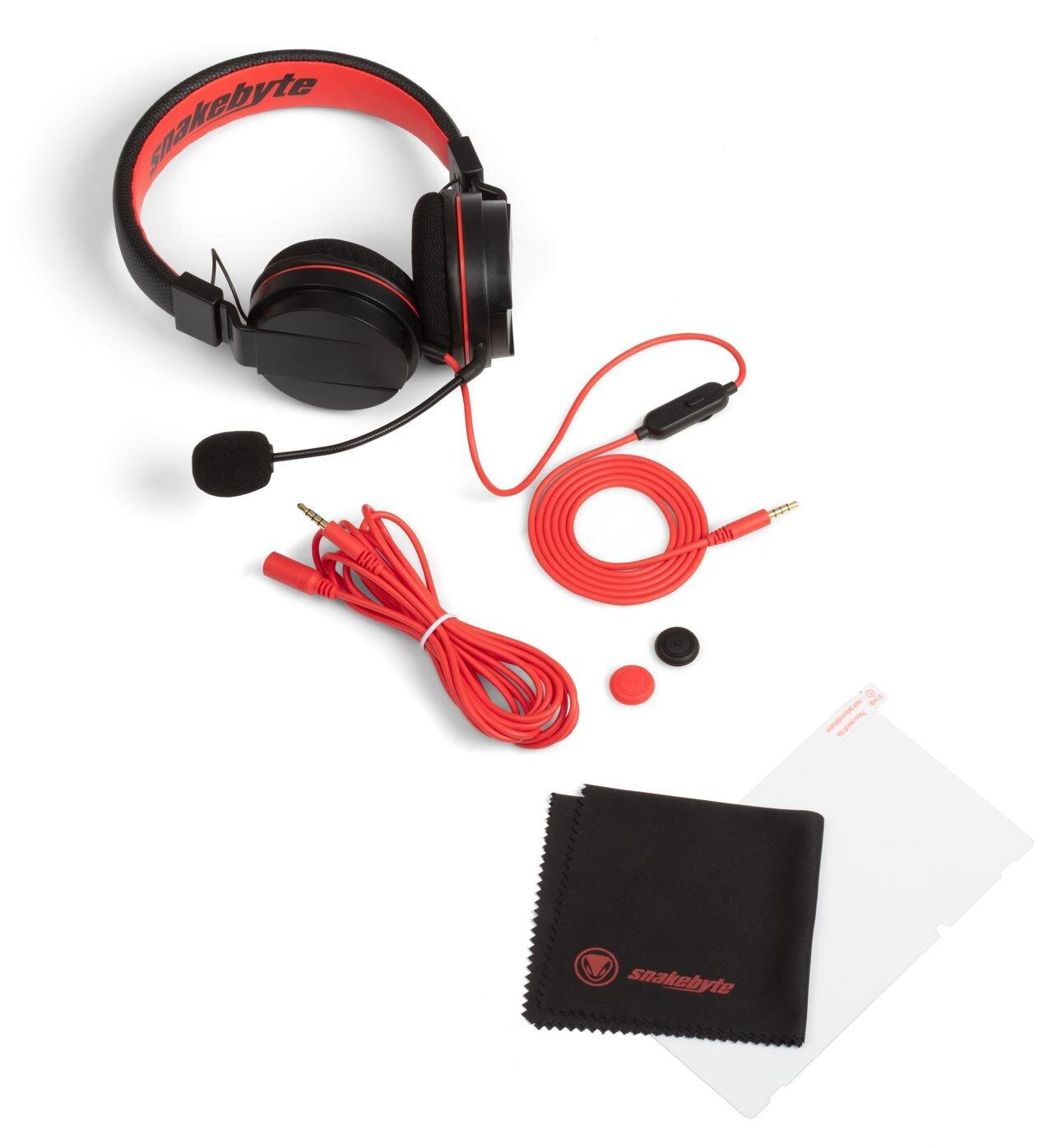 snakebyte słuchawki z zestawem akcesoriów Nintendo Switch GAMER KIT S ™ SOUND & PROTECT - 1
