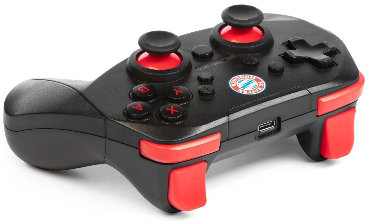 Snakebyte Wireless Pro-Controller Bayern München Nintendo Switch, Switch Lite Black - 4