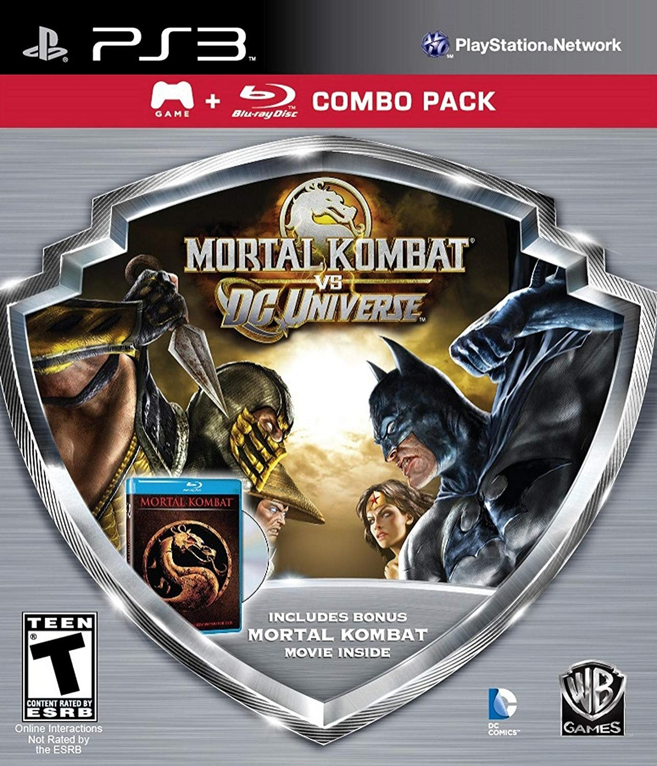PS3 MORTAL KOMBAT VS DC UNIVERSE COMBO PACK WITH MOVIE R1 - 1