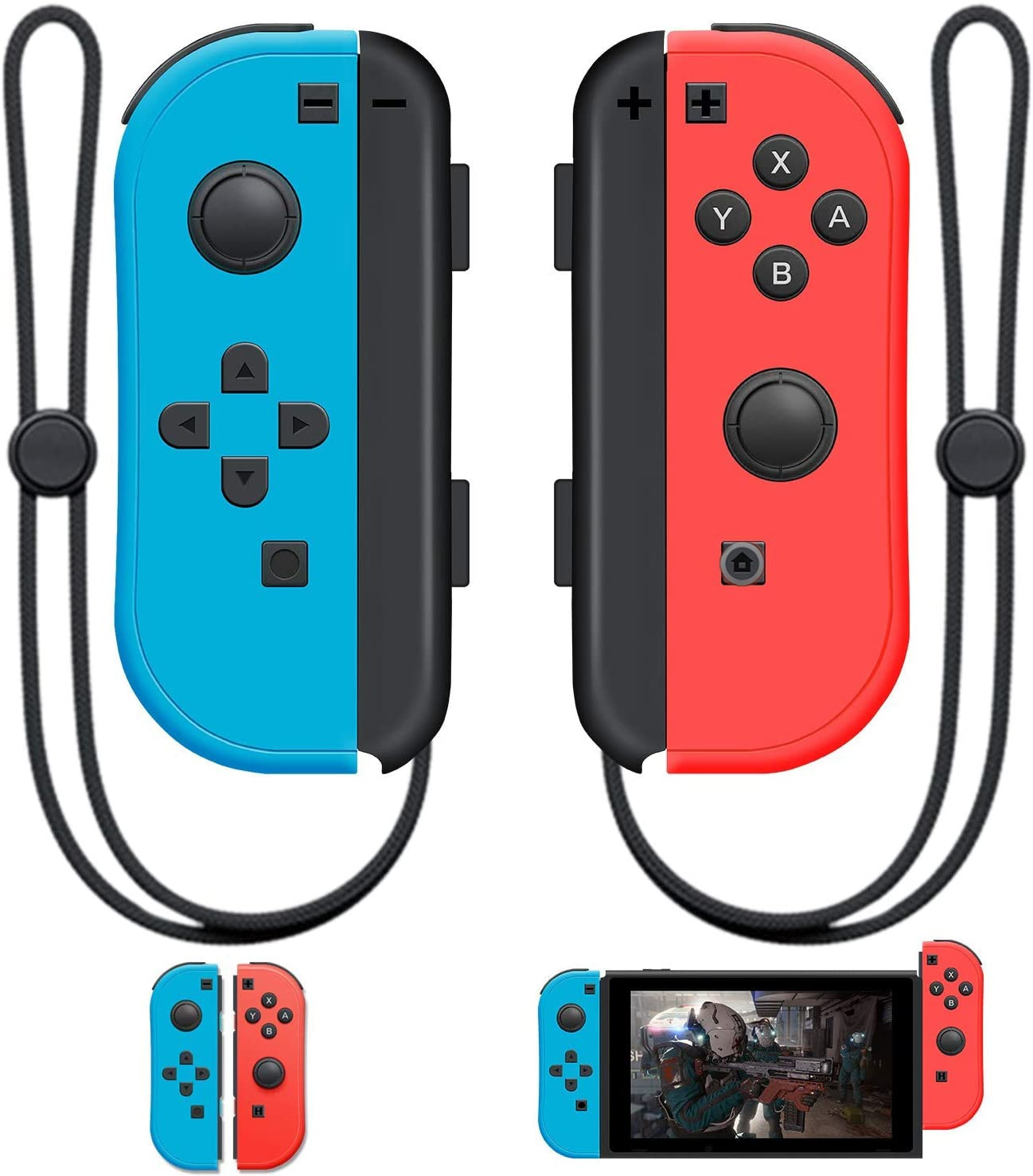Bluetooth Gamepad For Nintend Switch Joy-Con (L/R) Controller for Switch Wireless Joysticks Strap Multi-Color - 1