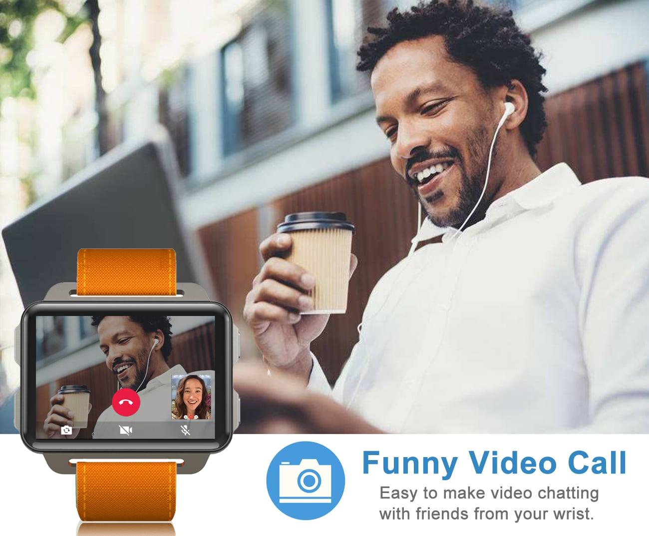 LEMFO LEM4 Pro 2.2 Inch Display 3G Smart Watch Android 5.1 1200mAh Lithium Battery 1GB + 16GB Wifi Take Video Orange - 9
