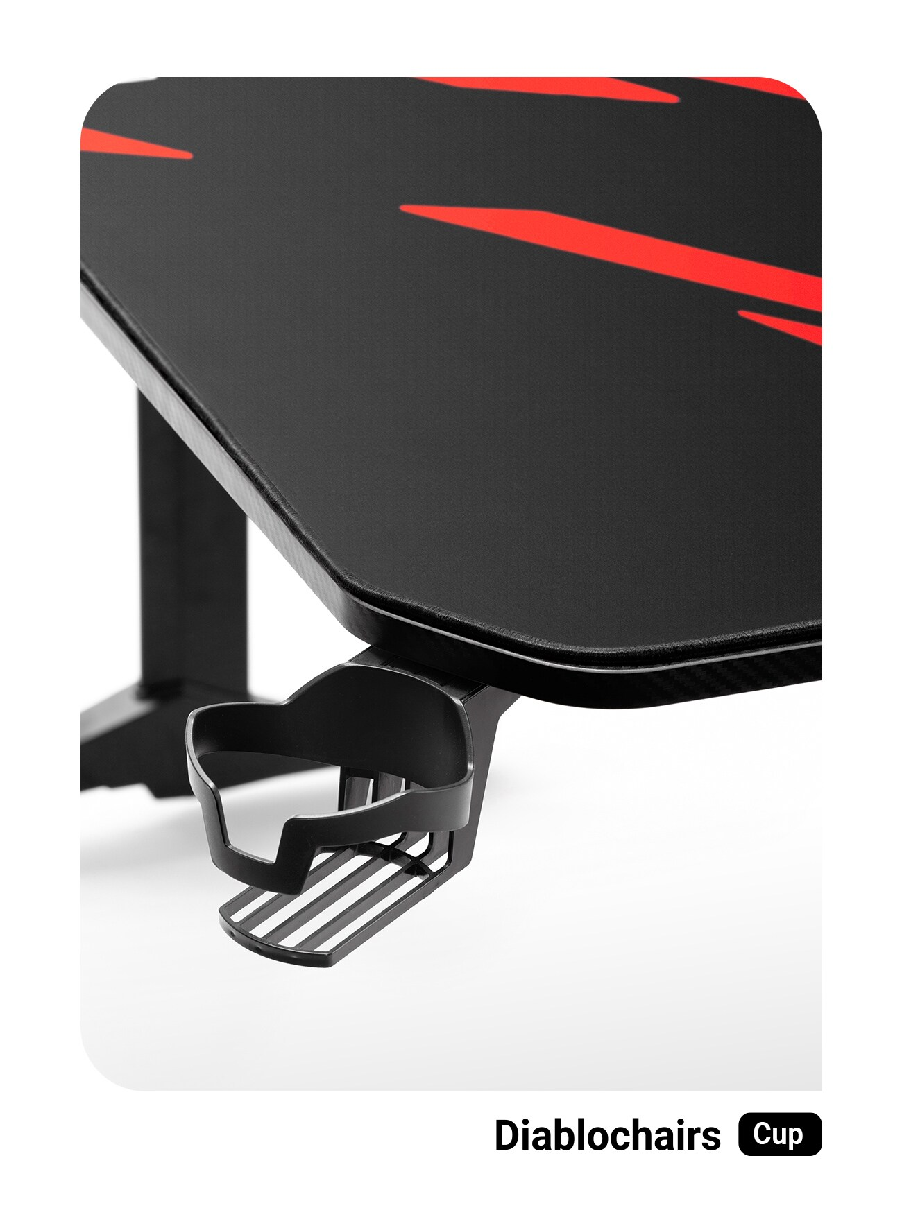 Biurko Gamingowe Diablo X-Mate 1400 Black/Red Gaming - 3