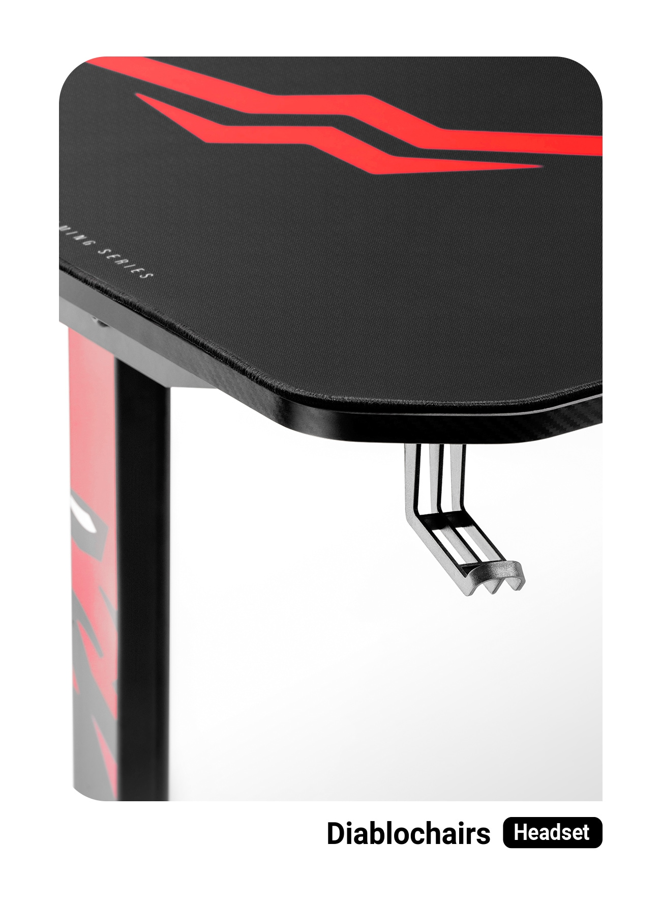 Biurko Gamingowe Diablo X-Mate 1400 Black/Red Gaming - 4