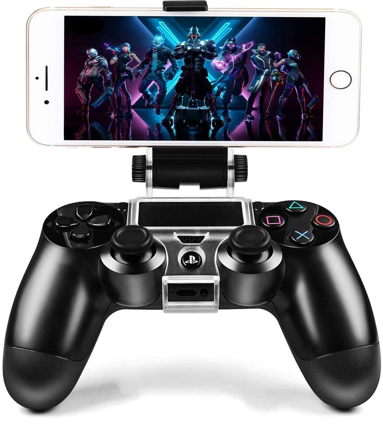 270x Degree PS4 Wireless Controller Phone clip Mountx Holder Stand Bracket Compatible with PS4 Pro/Slim Dualshock 4 Black - 2