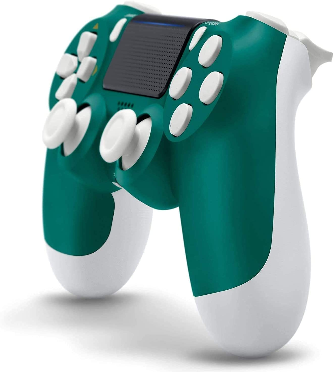 Newest PS4 Controller Dual Shock 4th Bluetooth Wireless Gamepad Joystick Remote Green White - 1
