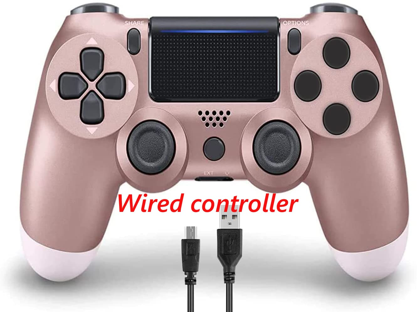 PS4 Wired Controller Dual Shock 4 Gamepad For Sony Playstation 4 Rose Gold - 1
