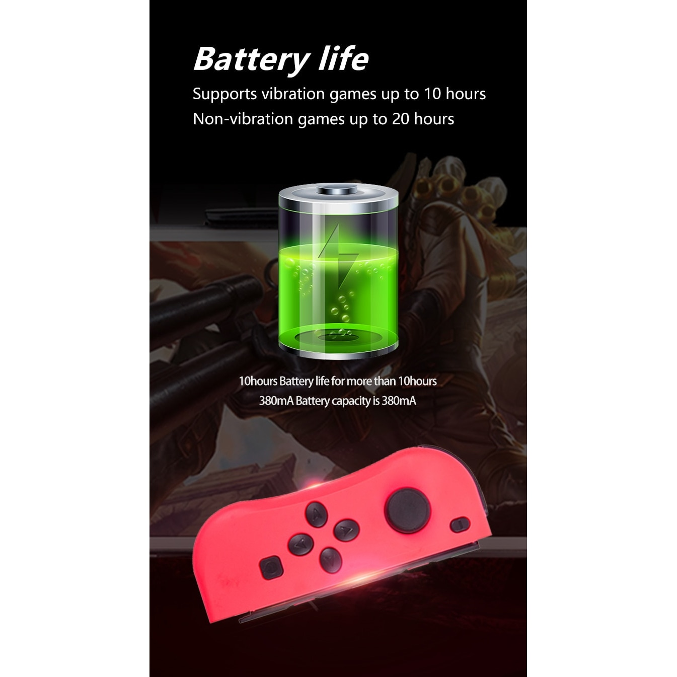 Wireless Joysticks for Nintendo Switch (L and R) Yellow - 3