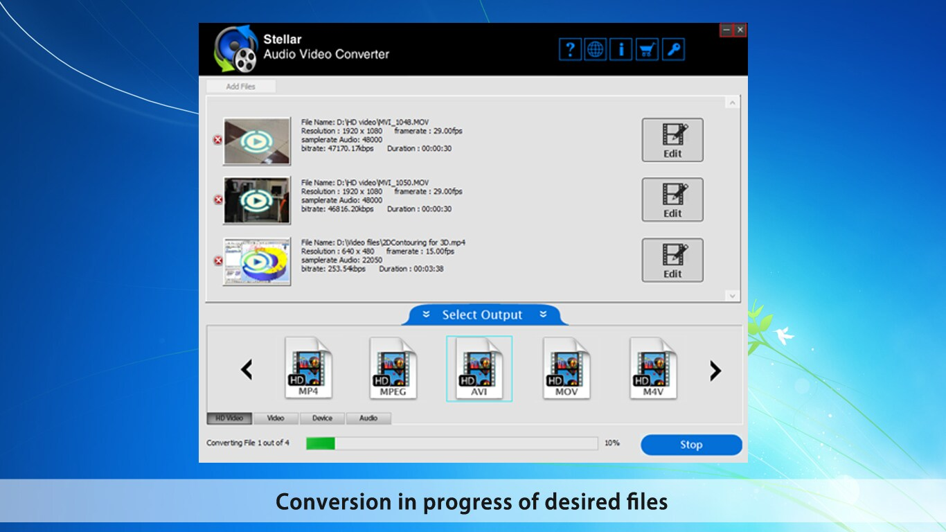 Stellar Audio Video Converter for Mac Key GLOBAL - 2
