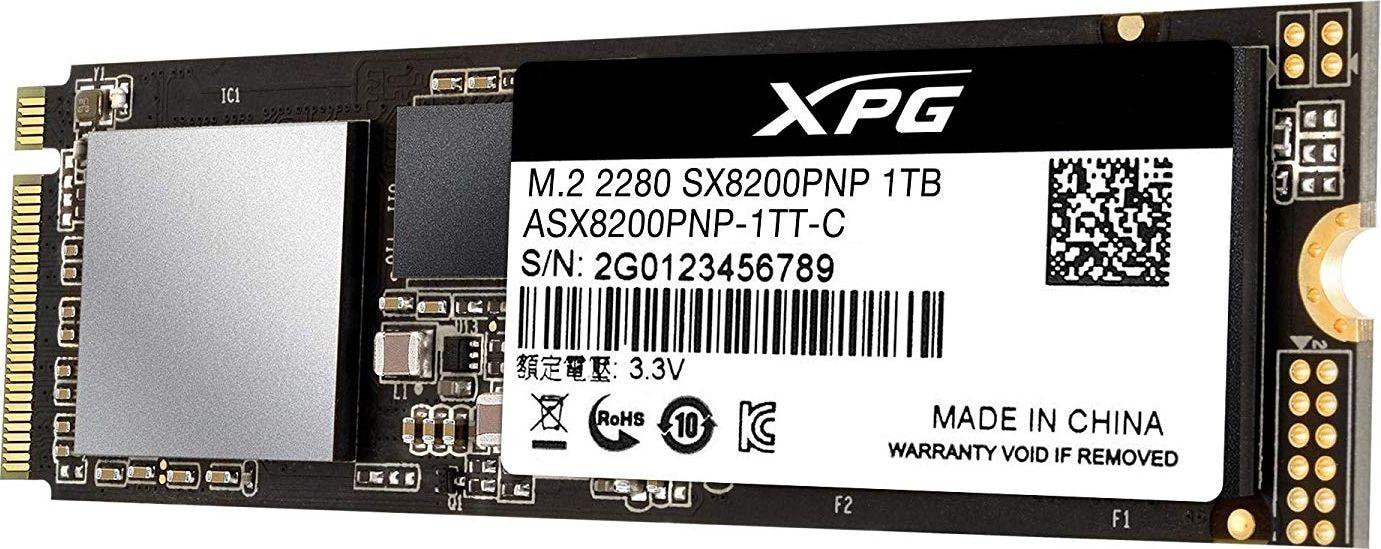 ADATA SSD Drive XPG SX8200 PRO 1 TB - M.2 2280 PCI-E x4 Gen3 NVMe - 3