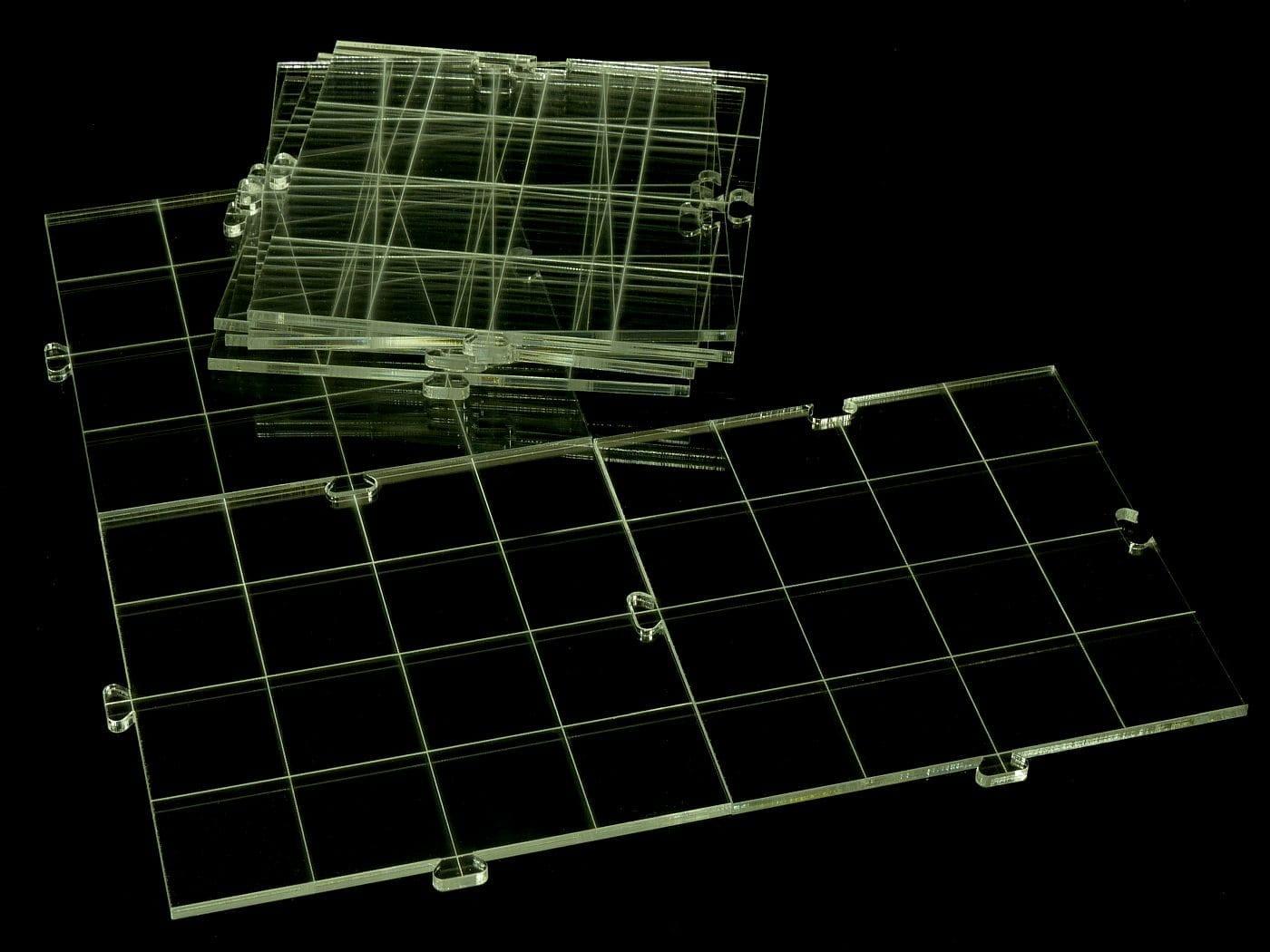 RPG dry erase acrylic modular board, transparent - 1