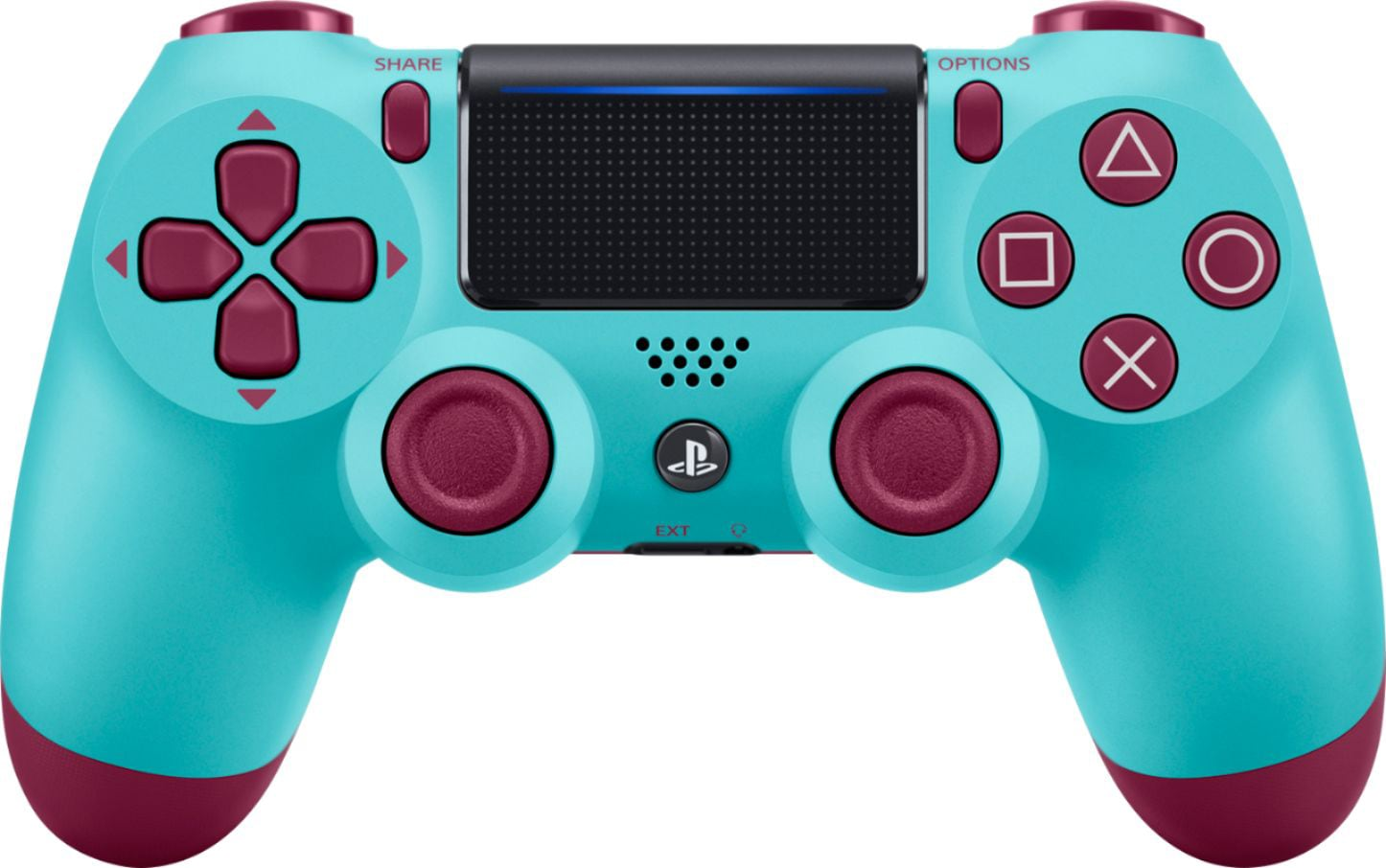 Official Sony PlayStation Dualshock 4 Bluetooth Wireless Gamepad Remote Controller PS4 Berry Blue - 1