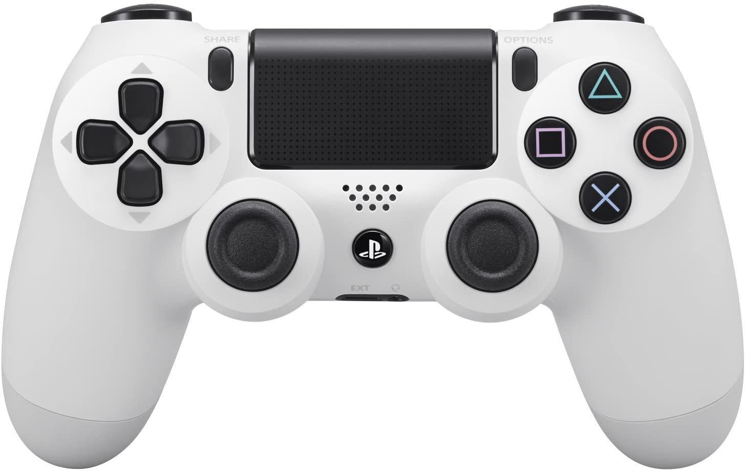 Sony PlayStation PS4 Dualshock 4 Controller, Glacier White White - 1
