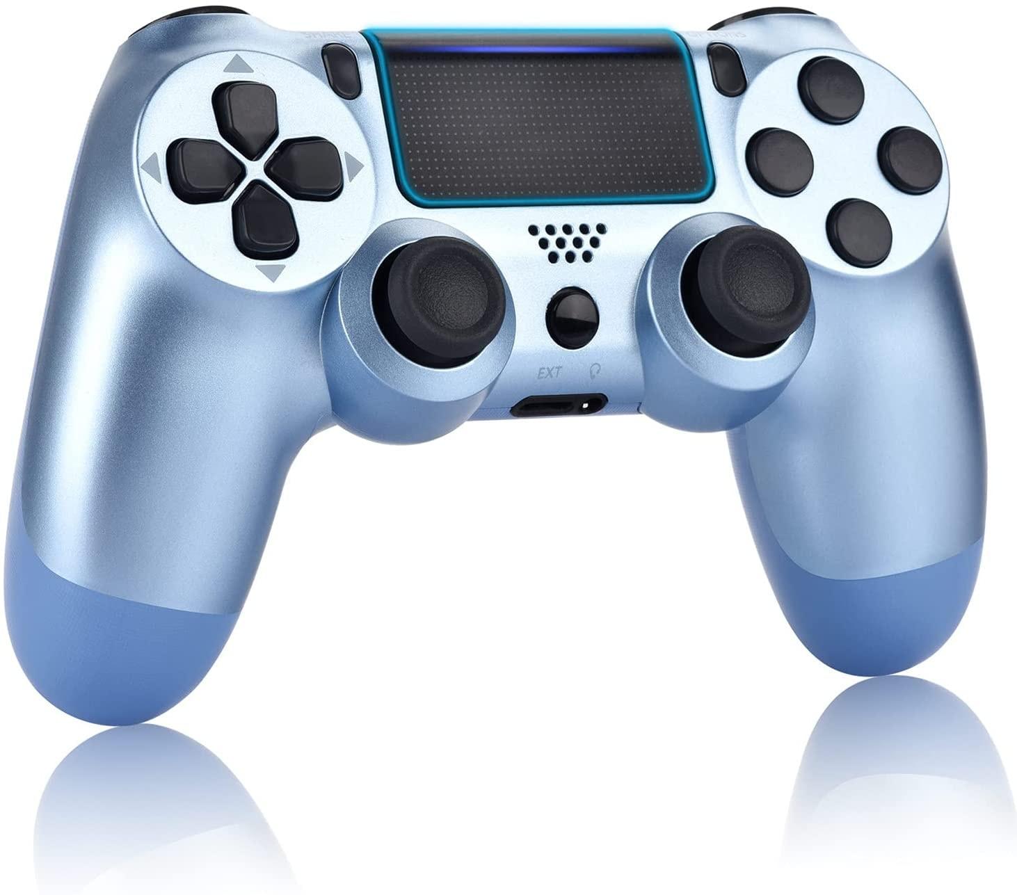Newest PS4 Controller Dual Shock 4th Bluetooth Wireless Gamepad Joystick Remote Titanium Blue - 1