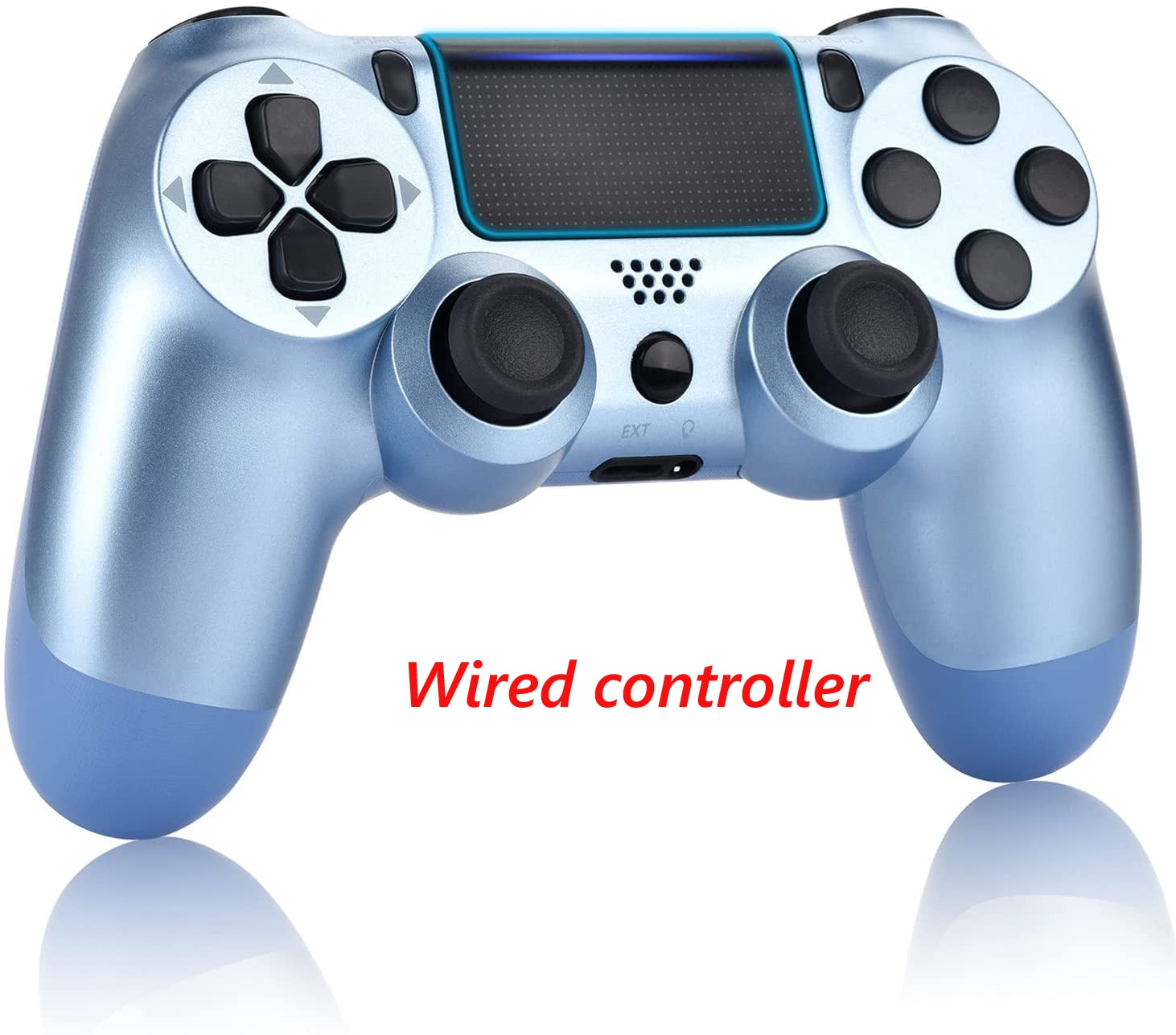 PS4 Wired Controller Dual Shock 4 Gamepad For Sony Playstation 4 Titanium Blue - 1