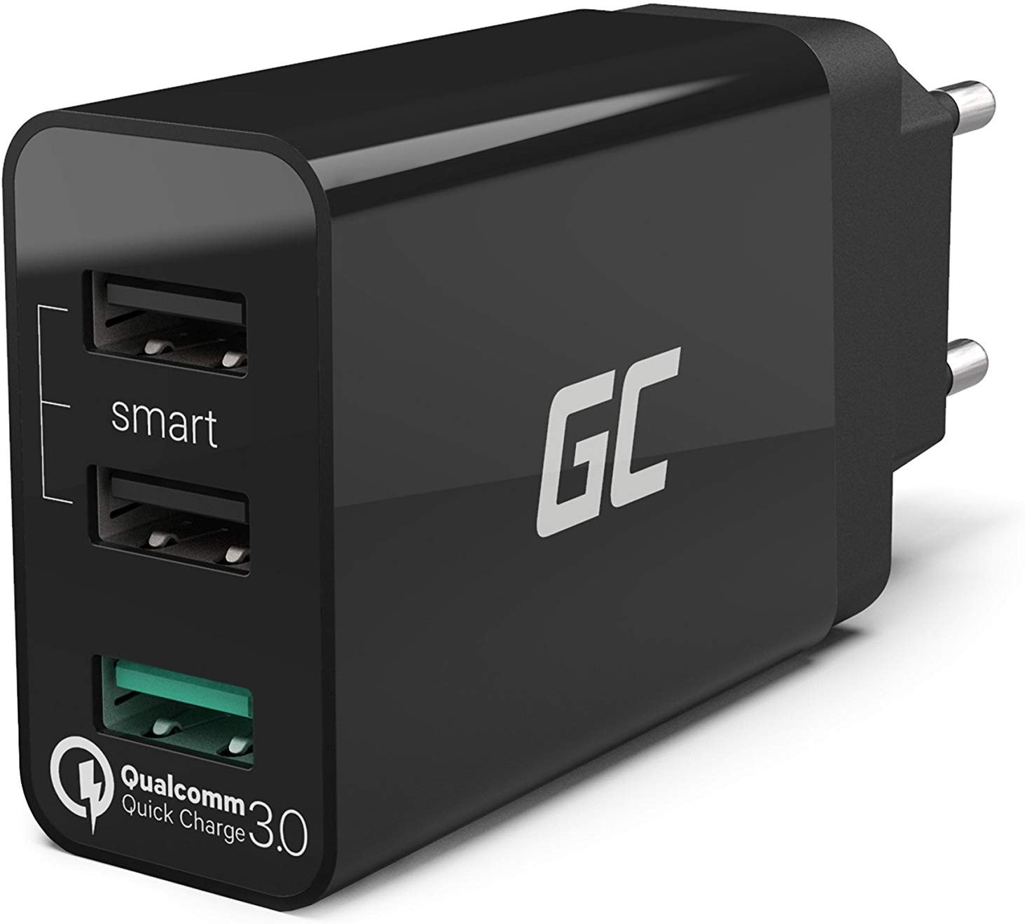 GC® Universal Charger 30W 3-Port USB with QC Quick Charge 3.0 for iPhone iPad Samsung Honor HTC Huawei LG Sony - 1