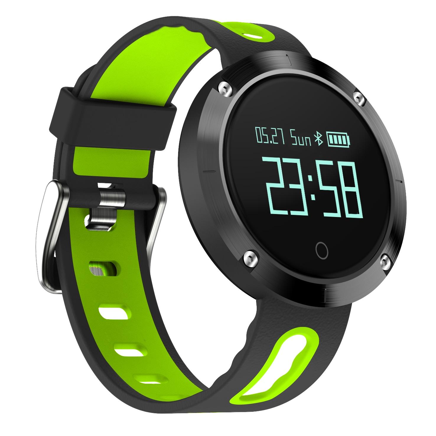 DOMINO DM58 0.95 Inch Round Display Screen Smart Bracelet Heart Rate Monitor Sport Wristband Fitness Tracker Black - 2