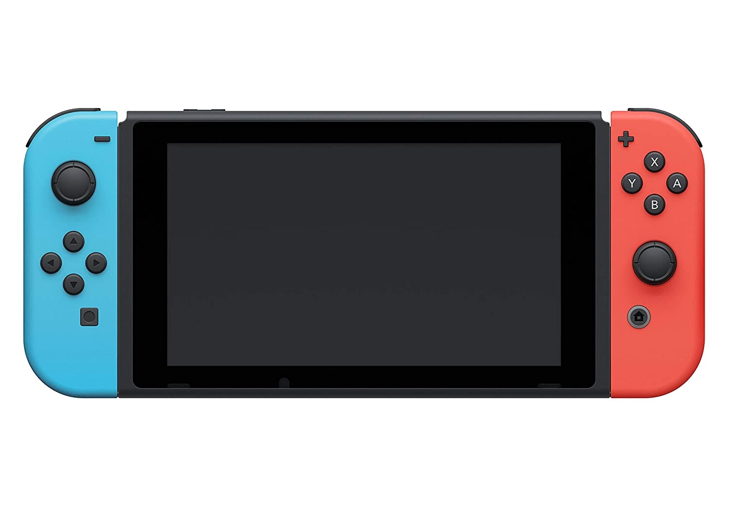 Nintendo Switch with Neon Blue and Neon Red Joy-Con Touchscreen LCD Display NVIDIA Custom Tegra Processor Carrying Case Multi-Colored - 3