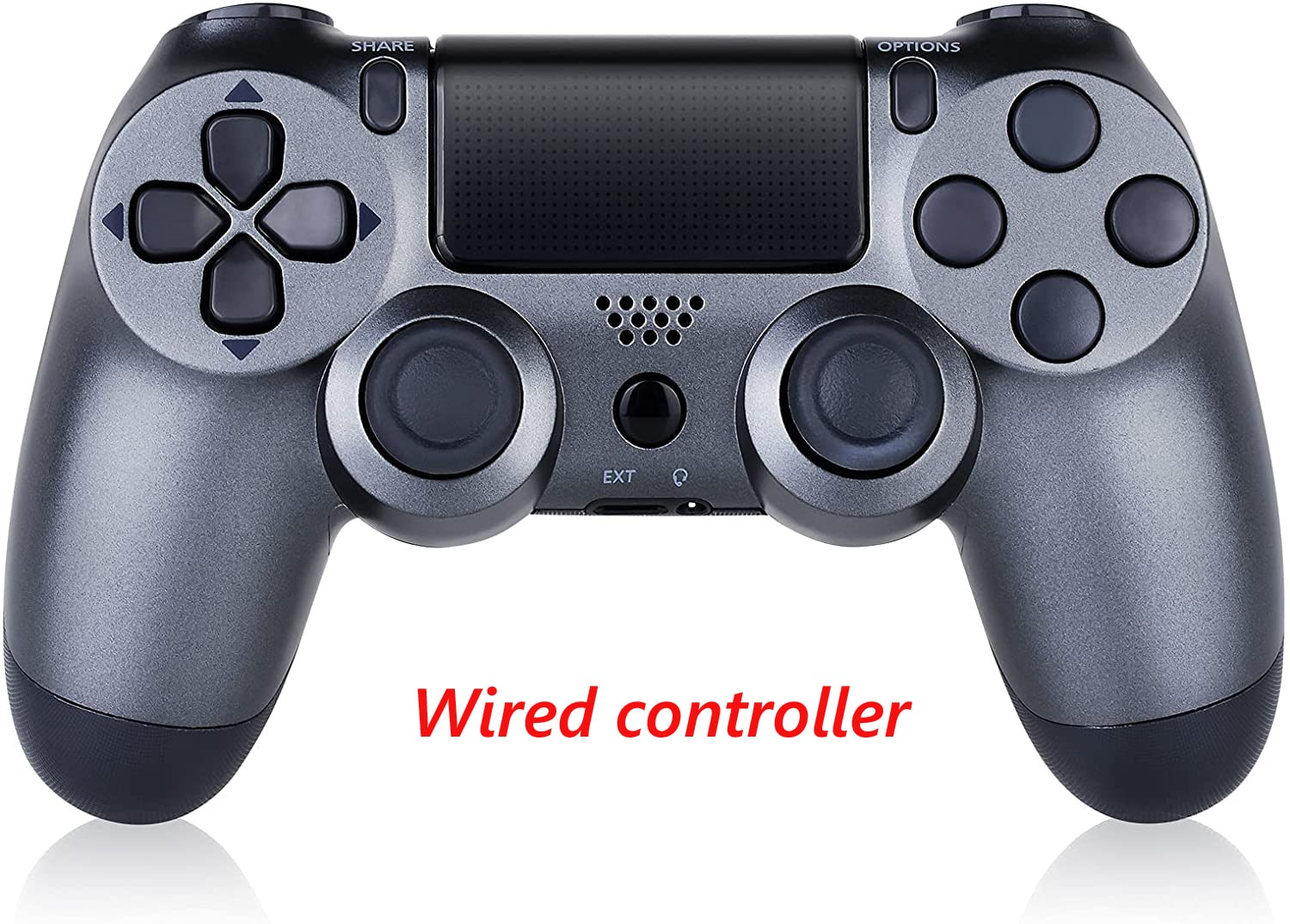 PS4 Wired Controller Dual Shock 4 Gamepad For Sony Playstation 4 Steel Black - 1