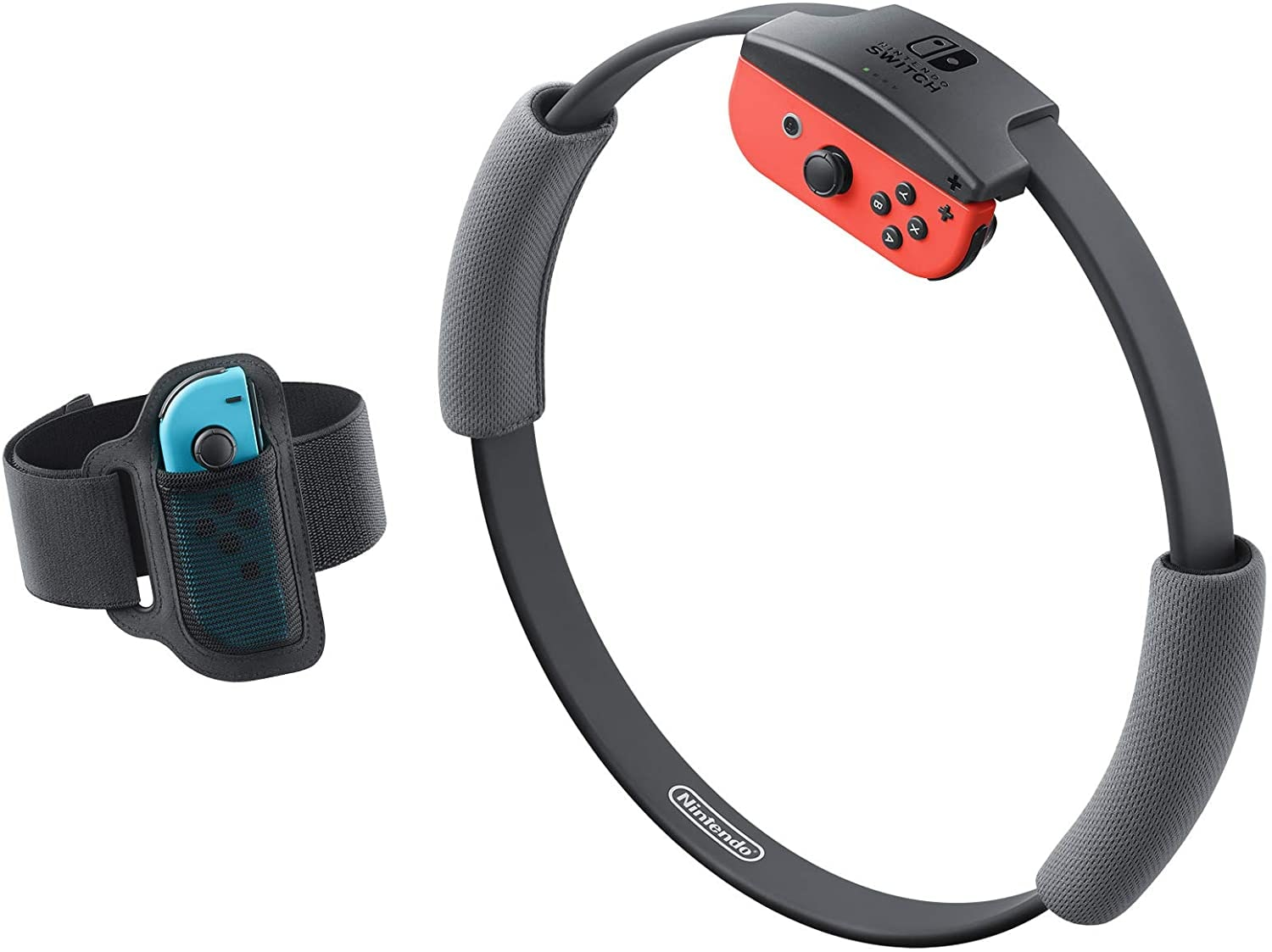 Nintendo Switch without Games FItness Ring Set Fit Adventure Ring Fit Exercise Yoga Ring+Leg Band Black - 3