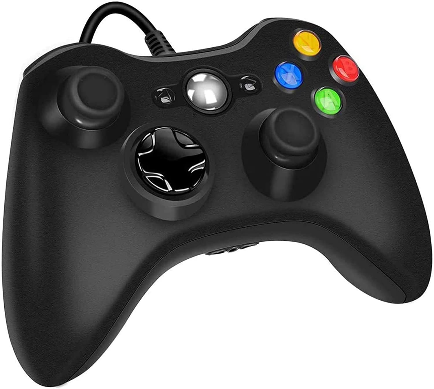 USB Wired Controller Game Accessories Gamepad Joypad Joystick For Microsoft XBOX360 Console PC Black - 1