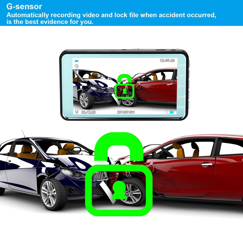 "4"" Vehicle 1080P Car Dashboard DVR Camera Video Recorder G-Sensor Dash Cam - 2"