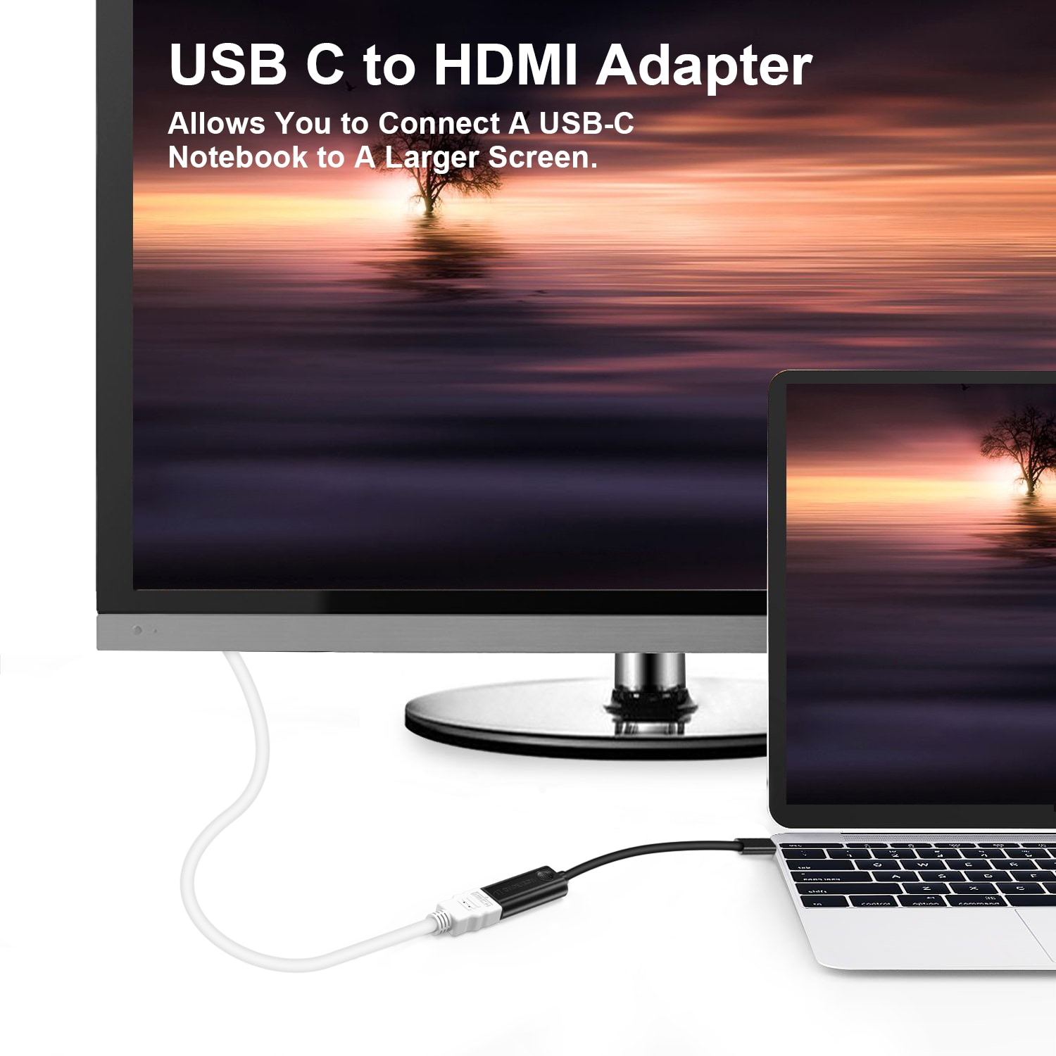 CHOETECH USB C to HDMI Adapter 4K@30Hz Thunderbolt 3 Compatible For Samsung S8/S9 Plus, MacBook Pro 2017 - 4