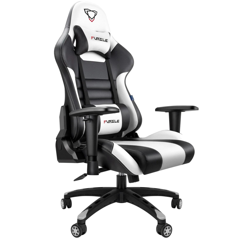 FURGLE ADJUSTABLE GAMING CHAIR Gaming Chair Black & white Gaming - 1