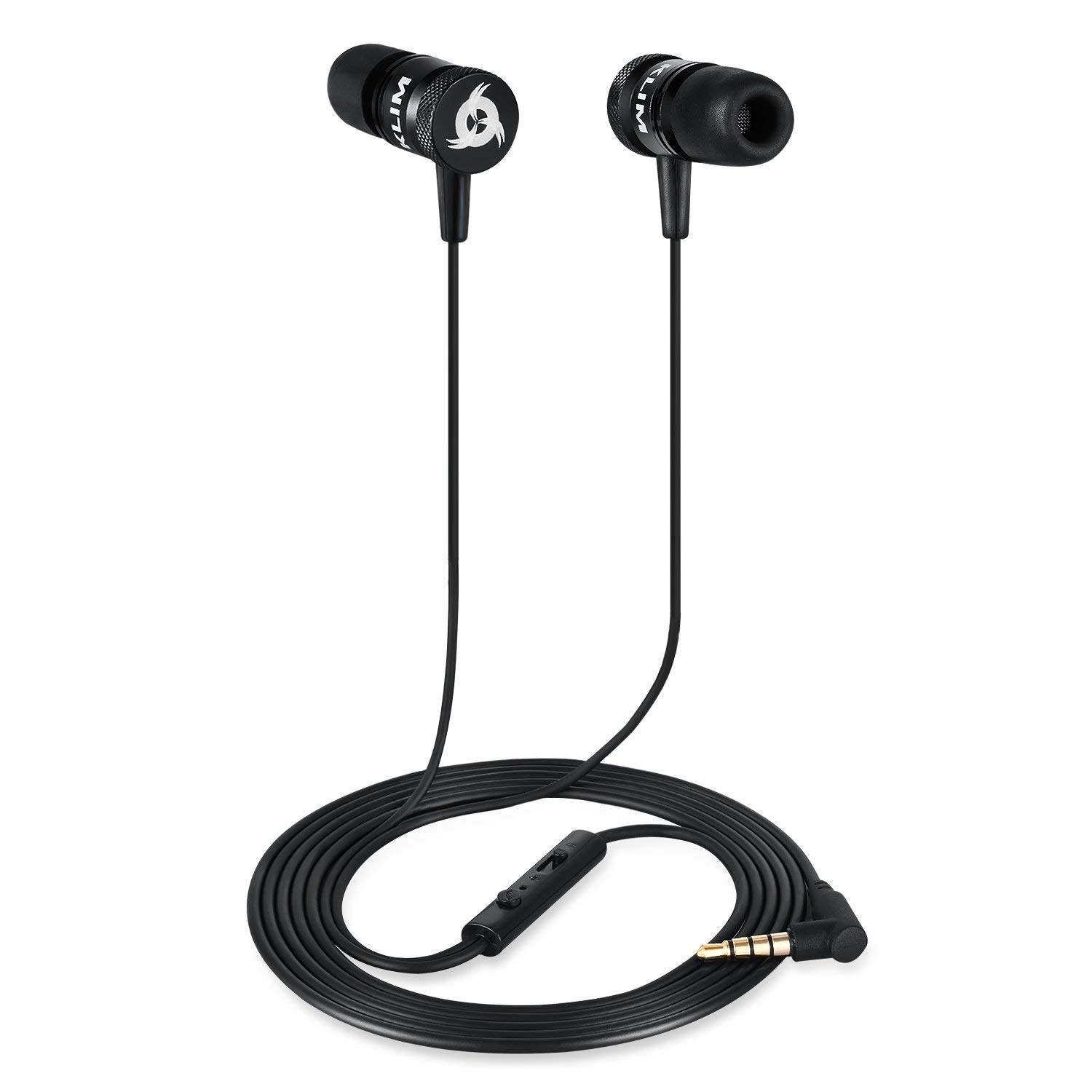 KLIM Fusion Earphones High Quality Audio + 5 years Warranty - Innovative: In-Ear with Memory Foam Red - 3