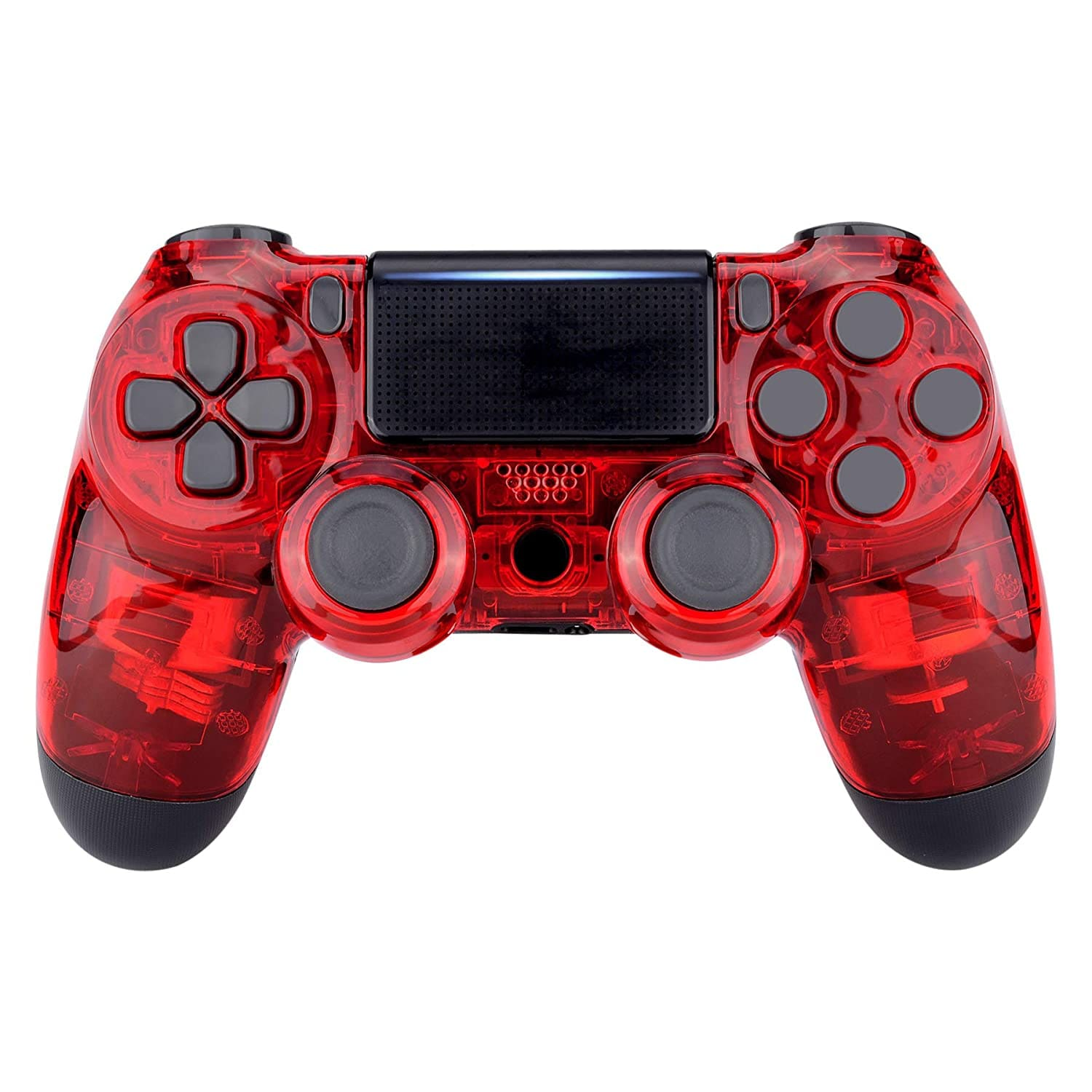 Newest PS4 Controller Dual Shock 4th Bluetooth Wireless Gamepad Joystick Remote Transparent Red - 1