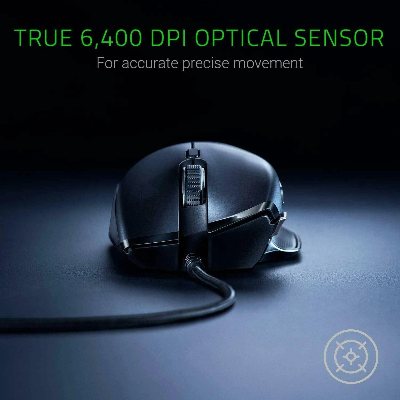 Razer Basilisk Wired Mouse Optical Sensor DPI 8 Buttons Black - 5