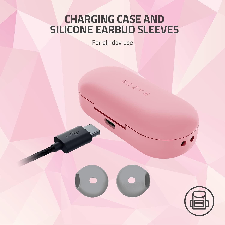 RAZER HAMMERHEAD Wateresistant Tws bluetooth wireless Earbuds Pink - 7