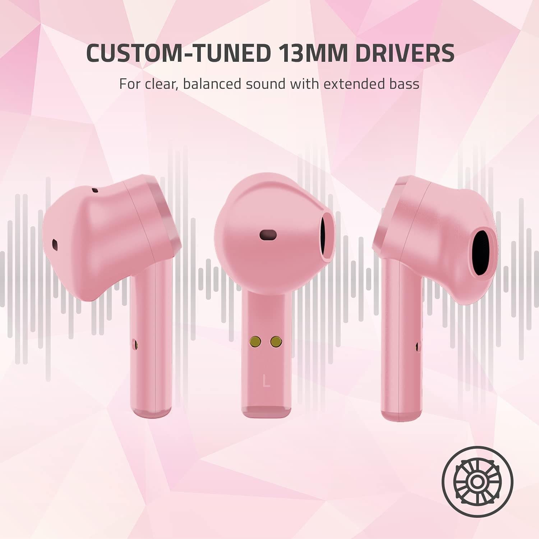 RAZER HAMMERHEAD Wateresistant Tws bluetooth wireless Earbuds Pink - 4