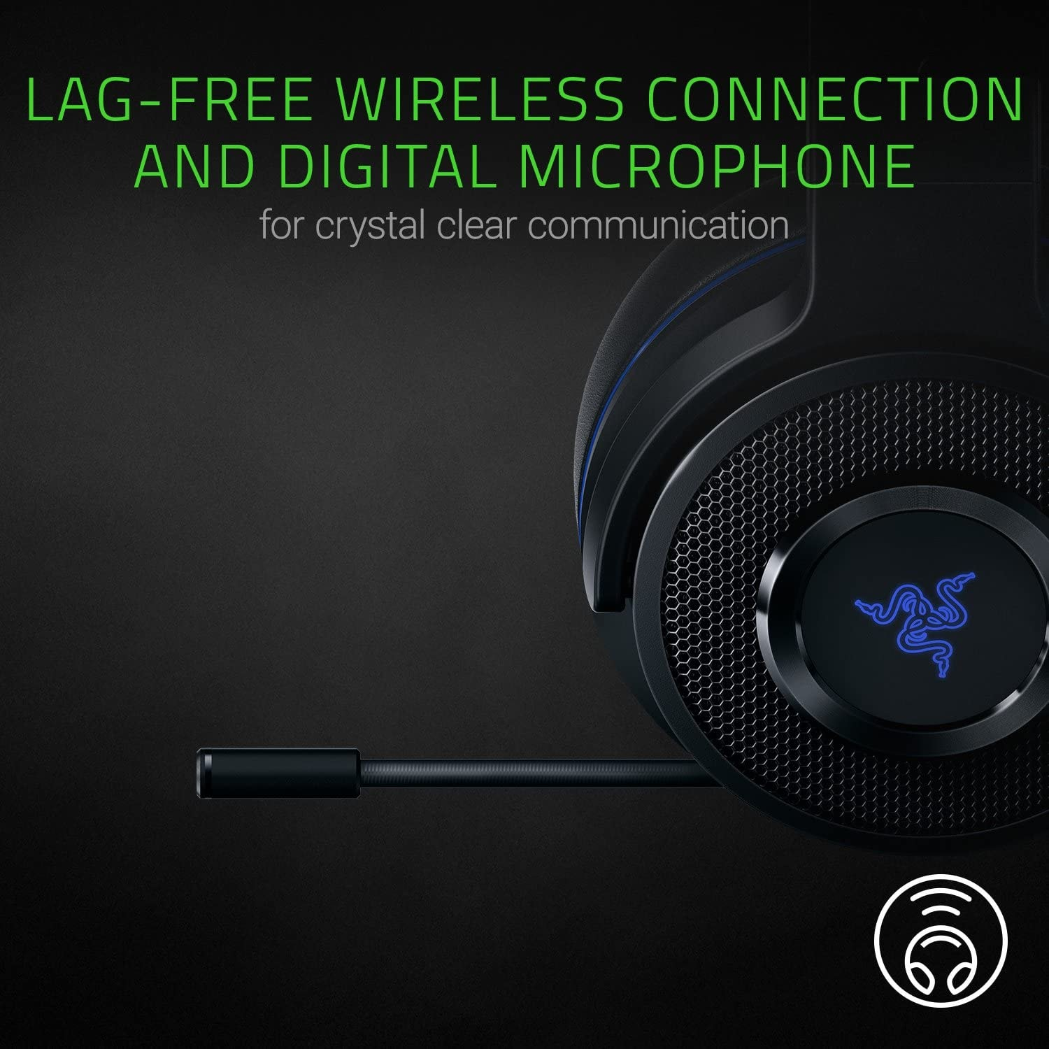 Razer Thresher 7.1 for PlayStation - Wireless Gaming Headset for PS4, PS5 and PC Wireless Headphones, Dolby 7.1 Black - 4