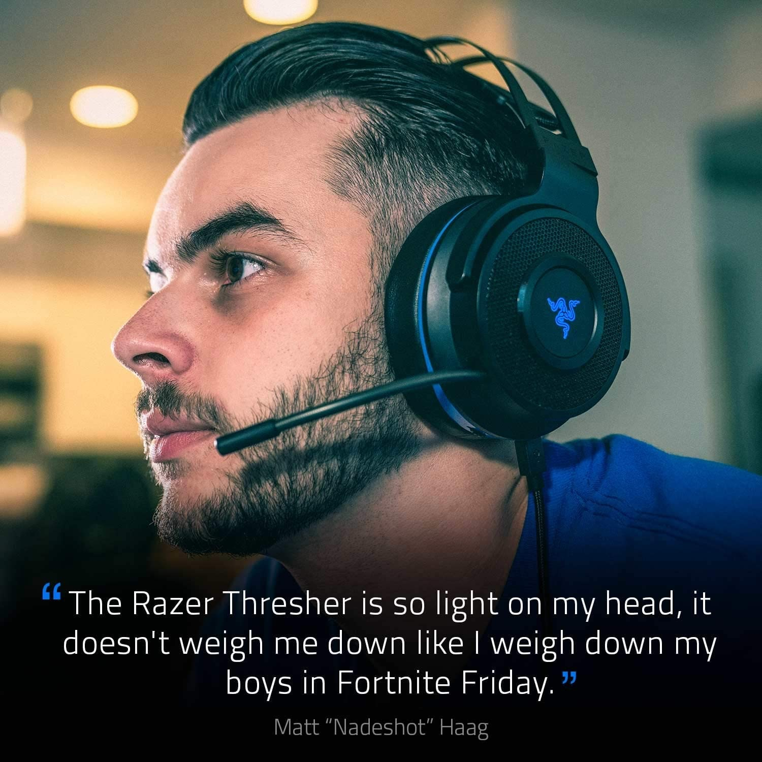 Razer Thresher 7.1 for PlayStation - Wireless Gaming Headset for PS4, PS5 and PC Wireless Headphones, Dolby 7.1 Black - 8