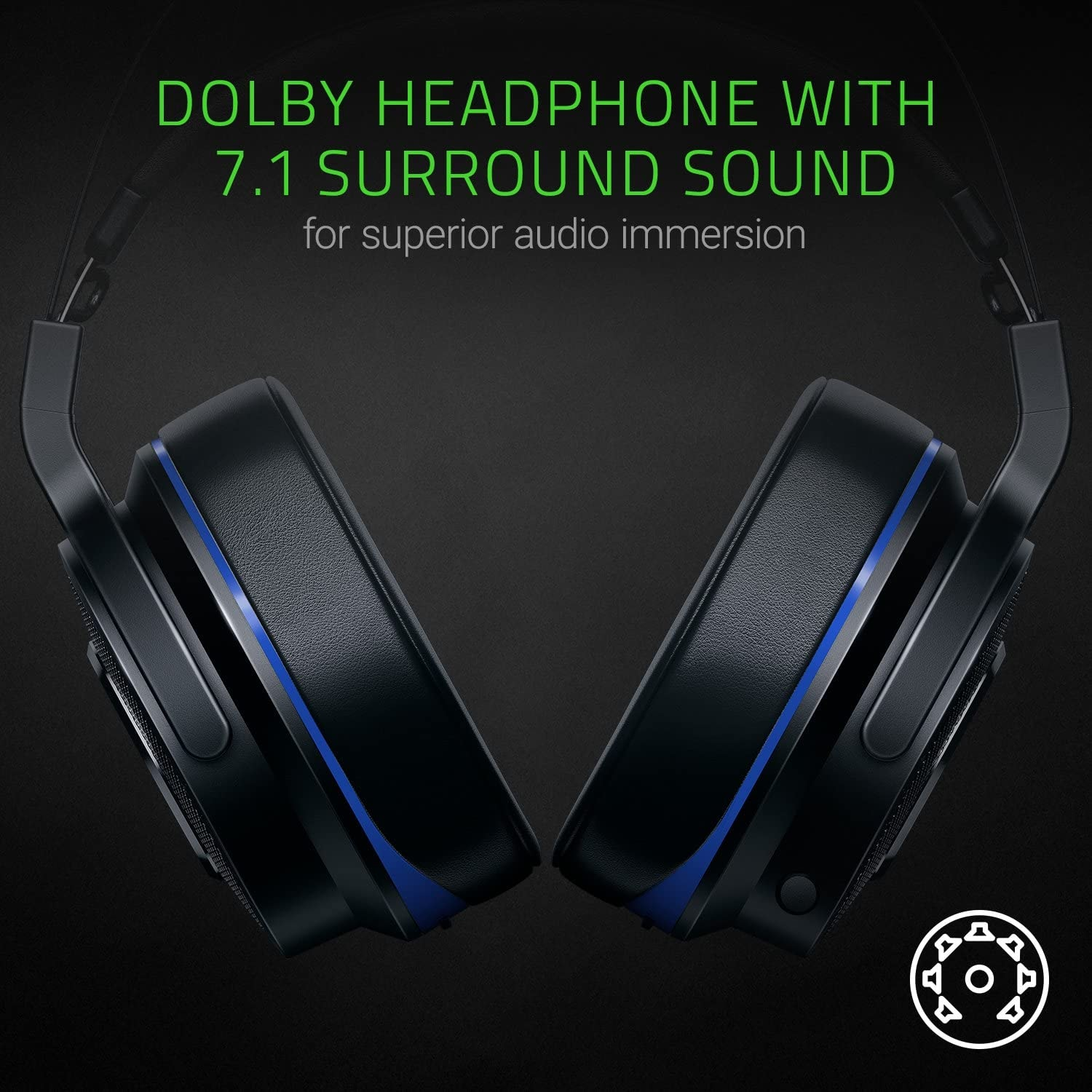 Razer Thresher 7.1 for PlayStation - Wireless Gaming Headset for PS4, PS5 and PC Wireless Headphones, Dolby 7.1 Black - 5